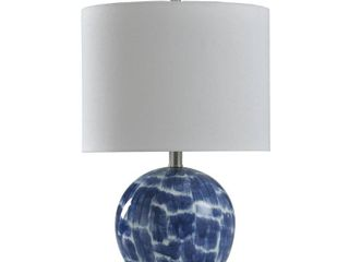StyleCraft Blue and White Ceramic Table lamp   Brussels White Shade  Retail 86 49
