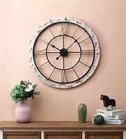 25in  Dia  Iron and MDF Wall Clock   25 5in Dia  Retail 84 49