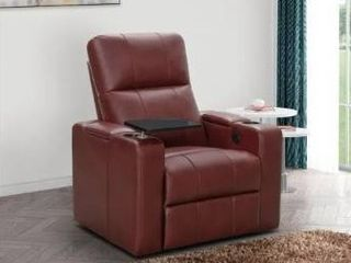 Abbyson Rider leather Theater Power Recliner  Retail 711 49