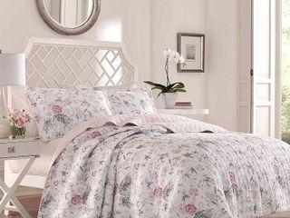 laura Ashley Breezy Floral Quilt Set