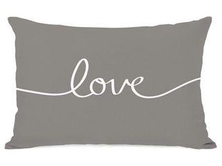 love Mix   Match   Gray Throw Pillow