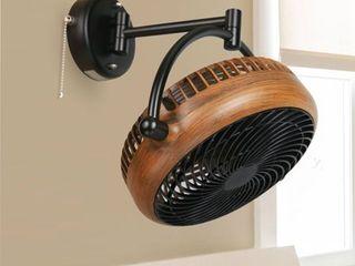 Industrial Walnut Finish 8 Inches Wall Mount Fan  Retail 159 97