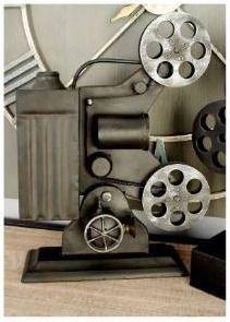 Carbon loft Kellogg Metal Film Projector Table Decor