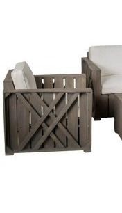 Cadence Acacia Wood Outdoor Chair with Cushion by Christopher Knight Home