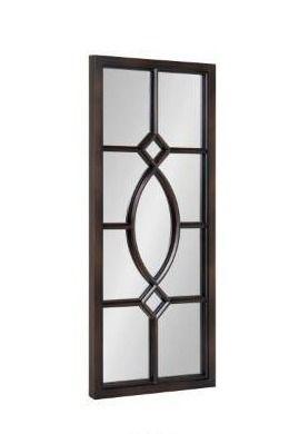 Kate and laurel Cassat Window Wall Accent Mirror  13  x 30  Dark Bronze