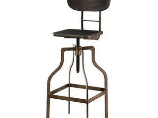 Furniture of America Damien Industrial Swivel Bar Chair  Retail 133 44