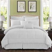 10 piece Solid Plaid Comforter Set  Retail 114 49