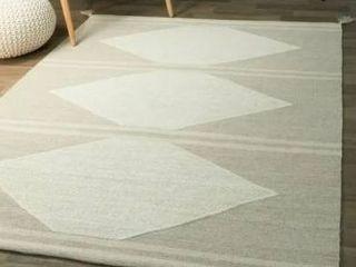 Papilio Bolton Geometric Cotton Flatweave Area Rug  Retail 144 99