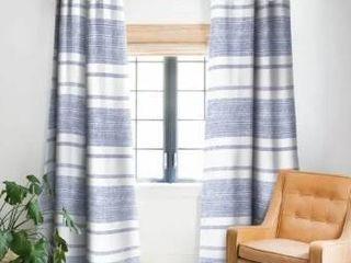 Set of 2 Holli Zollinger Capri Stripes Blackout Curtain Panel  Retail 148 19