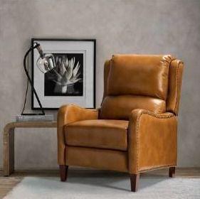 Brigida Genuine leather Recliner with Nailhead Trim Retail 793 94