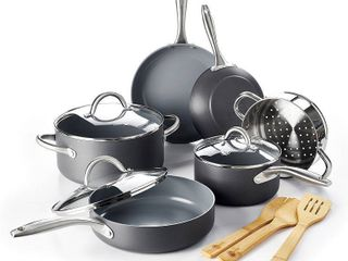lima Ceramic Non stick 12 piece Cookware Set  Retail 149 99