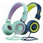 2PC Mpow Kids Headphones with Volume limiter Comfortable On Ear Headsets Durable Earphones for Toddlers Children and Teens