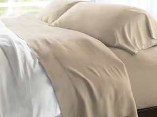 Queen 400 Thread Count 100  Rayon from Bamboo Resort Sheet Set Stone   Cariloha