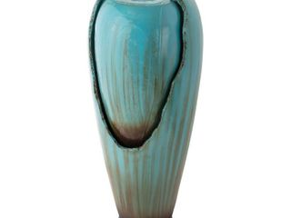 Alpine Corporation Turquoise Jar Outdoor Water Fountain  32 inches  Retail 197 49