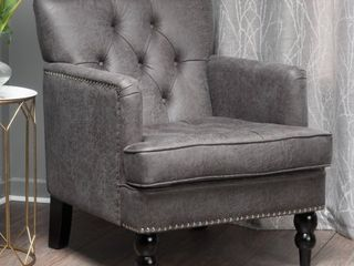 Slate  Malone Microfiber Club Chair by Christopher Knight Home  Retail 282 49