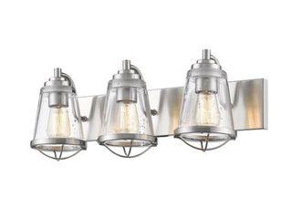 Avery Home lighting Mariner Brushed Nickel 3 light Vanity  Retail 246 00