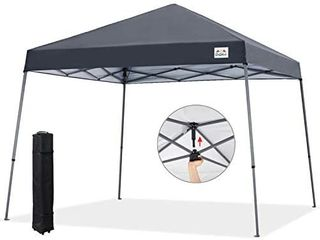 COOSHADE 12x12ft Slant leg Pop Up Canopy Tent Easy One Person Setup Instant Sun Protection Beach Shelter Portable Sports Cool Cabana Dark Grey