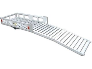 Maxxtow Towing Products 70275 52 1 2  x 29  Aluminum Cargo Carrier with 60  Folding Ramp