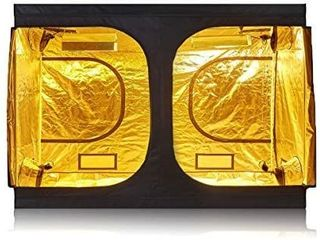 TopoGrow D Door 120 X60 X80  Indoor Grow Tent Room 600D Mylar High Reflective Non Toxic Hut  10 X5