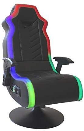 X Rocker  5152401  RGB Prism Pedestal Chair 2 1 Dual w lED  33a x 25a x 45a  Black