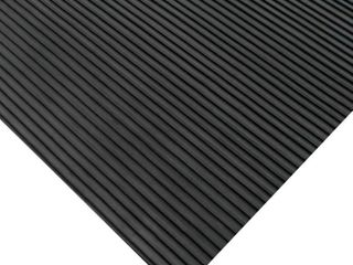 Rubber Cal 03 167 W RC 20 Ramp Cleat Non Slip Outdoor Rubber Floor Mats  1 8  Thick x 3  x 20  Black