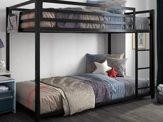 Dhp miles metal twin over twin bunk bed  black Retail  207
