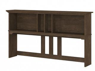 Bush Furniture Salinas 60 W Hutch For l Shaped Desk  Ash Brown  Standard Delivery
