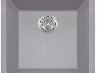 MR Direct 805 silver Quartz Granite Kitchen Sink  Silver