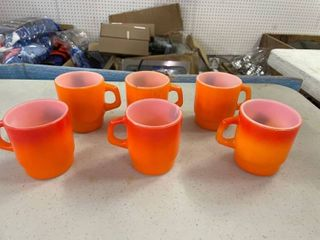 Orange Coffee Cups Fire King   6