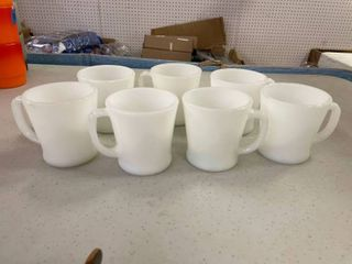 Milk Glass Fire King Coffee Cups  7