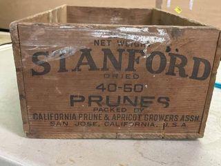 Stanford Prunes Wood Crate