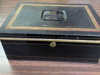 Tin litho Safe Box w  Additional Matching Cash Box