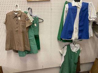 large lot Vintage Girl Scout   Brownie Uniforms