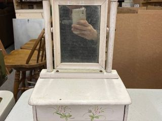 Childs Doll White Dresser W Mirror