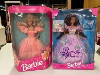 1994 Butterfly Princess Barbie  1992 Peach Blossoms Barbie
