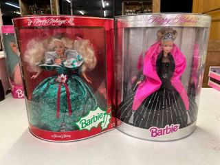 1995   1998 Happy Holidays Barbie Dolls Nib