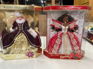 1997 Black African American Holiday Barbie  1996 Happy Holiday Barbie