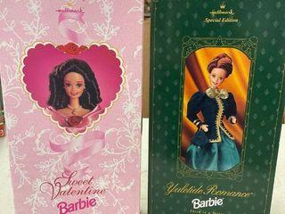 1996 Hallmark Yuletide Romance Barbie 1995 Sweet Valentine Barbie