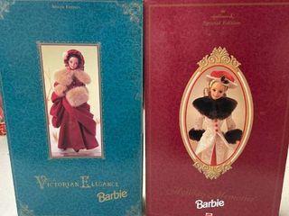 Hallmark Holiday Memories Barbie 1995  Victorian Elegance 1994 Barbie