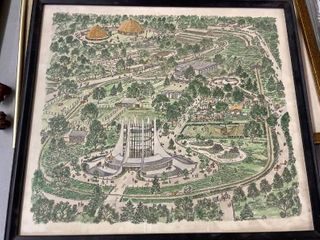 Vintage Map Of Kansas City Zoo   Norman Baxter
