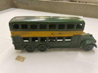 A C Williams Double Decker Bus Cast Iron