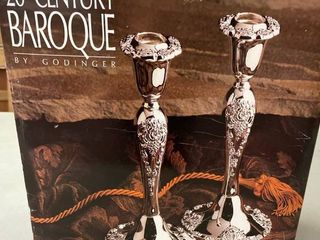 a8 Silver Plated Candle Stick Holder