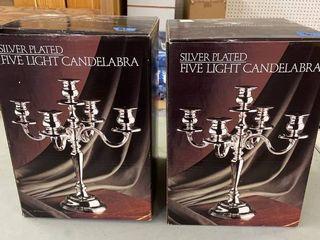 Silver Plated Five light Candelabra  2
