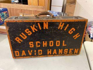 Wooden Ruskin High School Suitcase