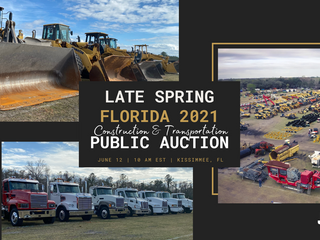 2021 Late Spring Kissimmee, Florida Construction & Transportation Public Auction
