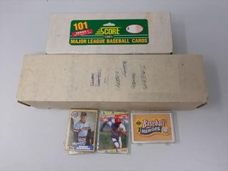 91 score baseball card set  Tigers team set