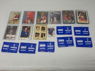 Assortment of basketball cards  mini basketball