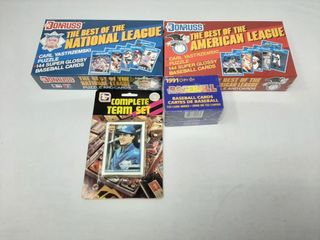 2 boxes of donruss baseball  91 opc factory set