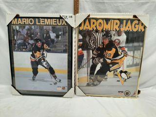 Mario lemieux and Jaromir jagr prints 20 1 4  x