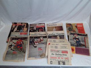 lot of  Old hockey magazine  hochey news
